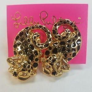 Lilly Pulitzer Leopard Earrings